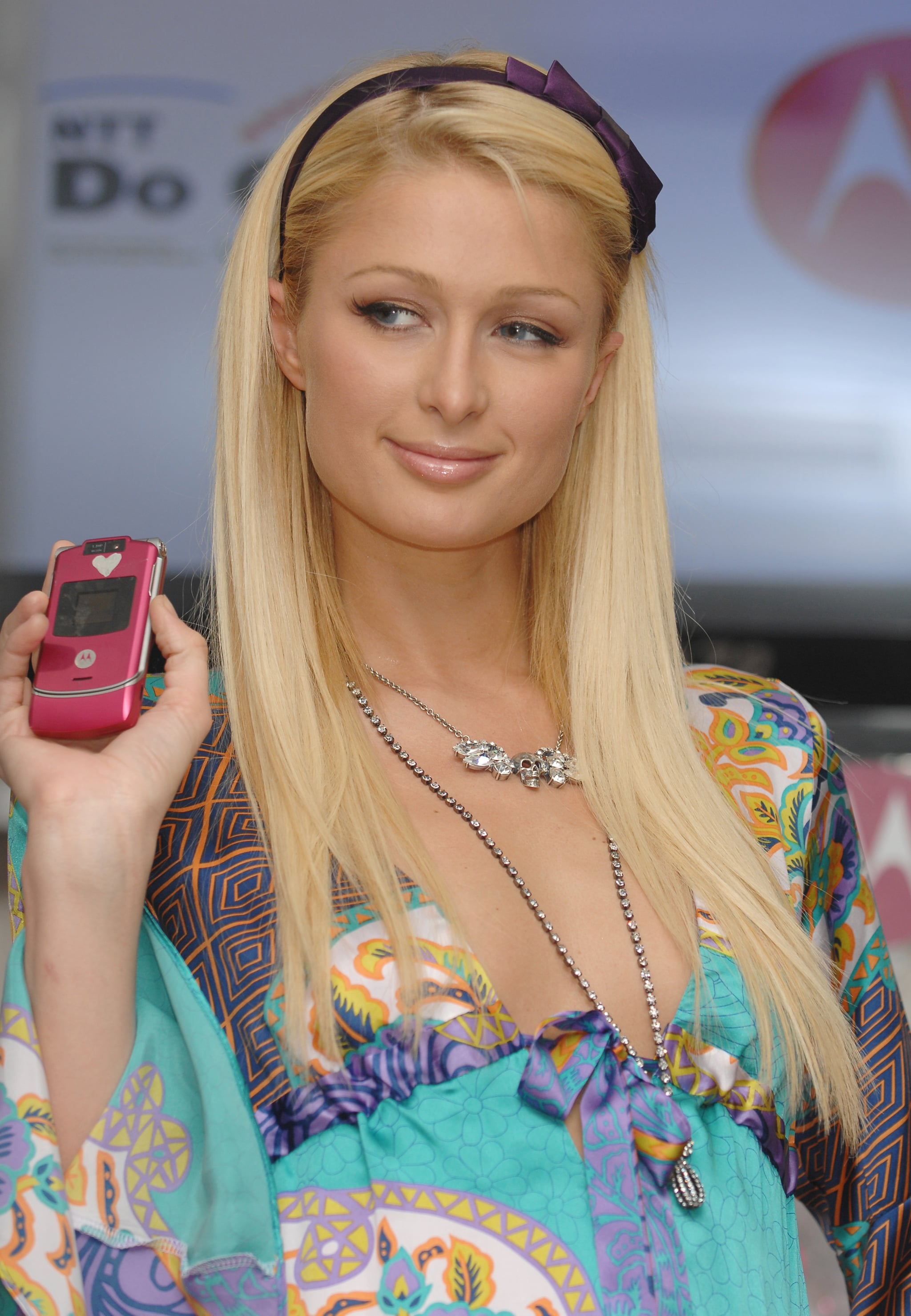 Paris Hilton during Paris Hilton Promotes the Launch of Motorola's MotoRAZR in Japan at DoCoMo Shop Shibuya at DoCoMo Shop Shibuya in Tokyo, Japan. (Photo by Jun Sato/WireImage for MOTOROLA)