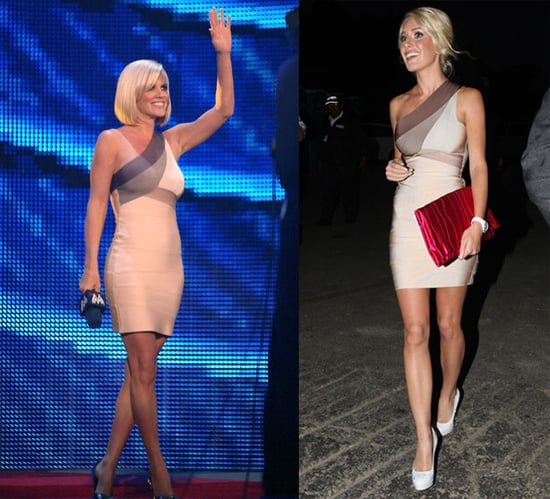 Who Wore It Better? Herve Leger One-Shoulder Dress