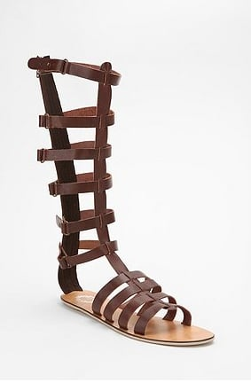 Show off these tall gladiator sandals with a little white dress or high-waist black shorts for a modern twist on tribal dressing. Urban Outfitters Ecote Knee High Gladiator Sandal ($49)