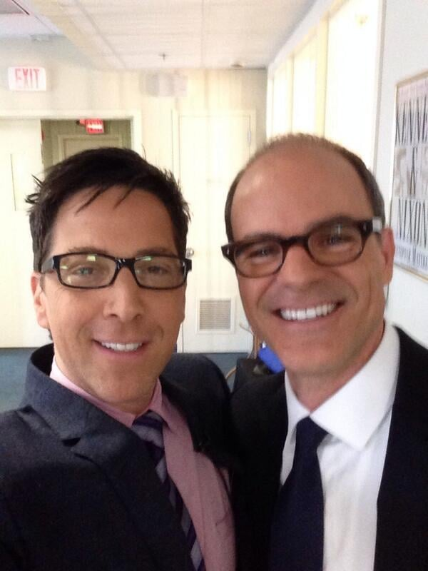 """With the help of a hashtag, Dan pointed out that he and House of Cards actor Michael Kelly are both """"#ActorsSHOTtonDCShows."""" Source: Twitter user danbucatinsky"""