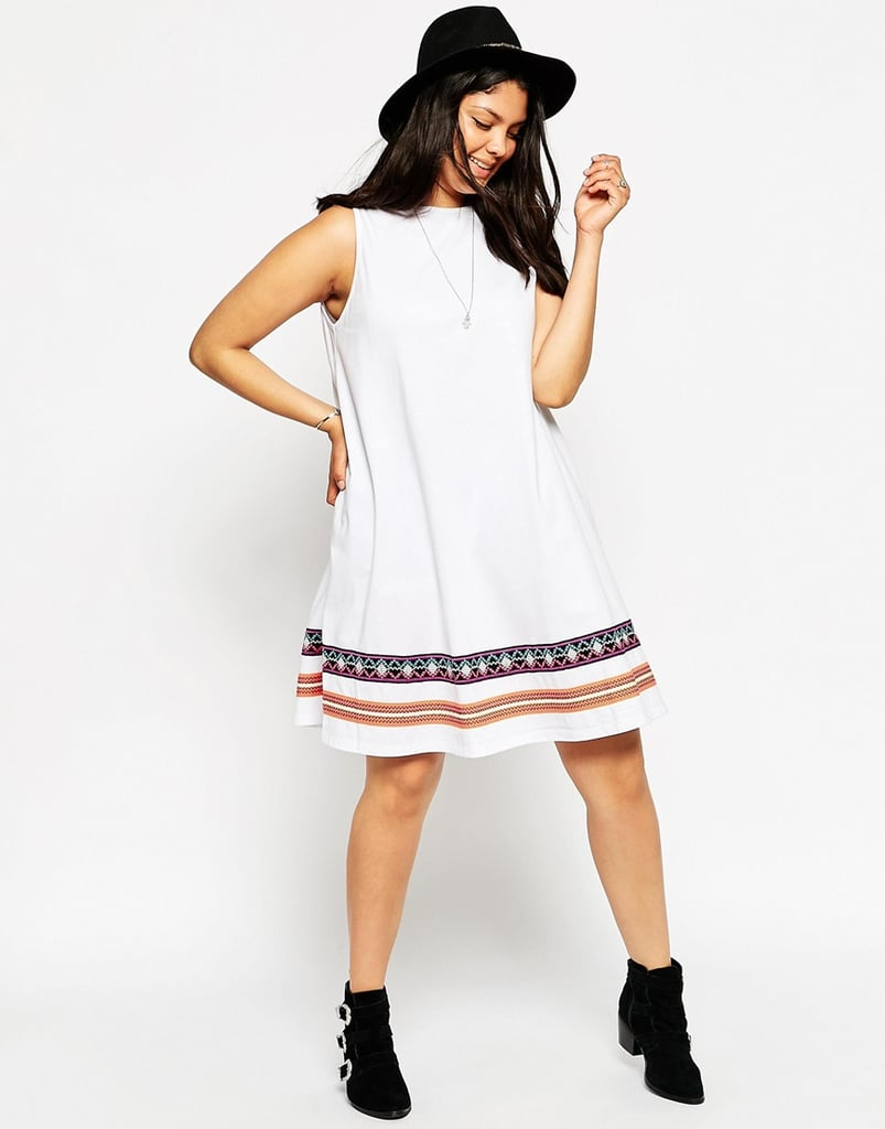9bbea971346c ASOS CURVE Swing Dress with Embroidered Tape Detail | Summer Dresses ...