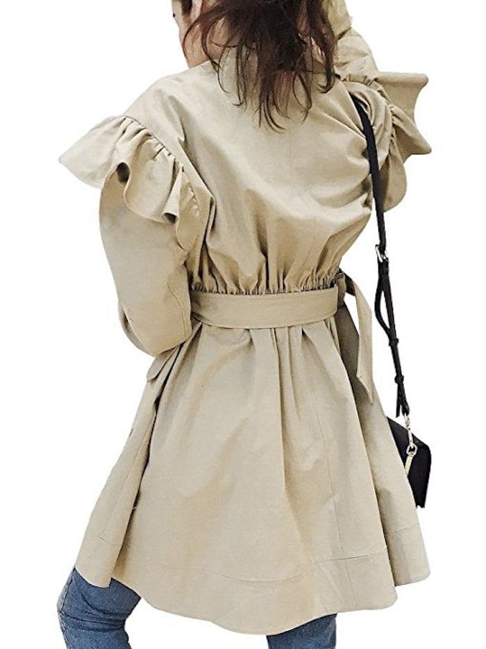 Simplee Double-Breasted Trench Coat