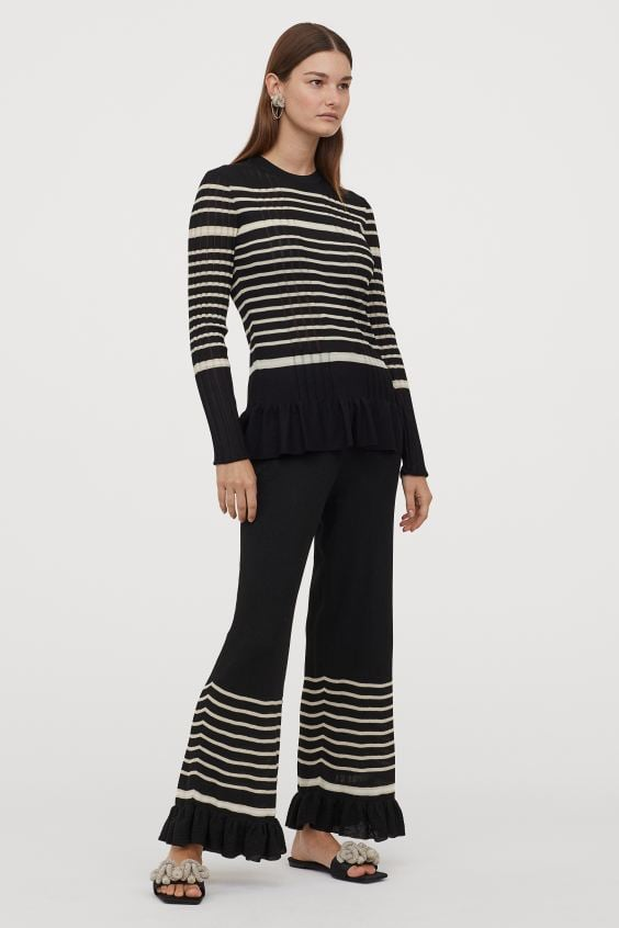 H&M Rib-knit Pants and Fine-knit Top