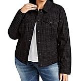 Style & Co Plaid Denim Jacket