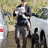 Orlando Bloom showed son Flynn Bloom the great outdoors.