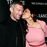 Rosario Dawson kissed Vincent Cassel.