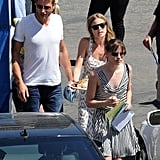 Christa B. Allen and Emily VanCamp popped on the set of Revenge together.