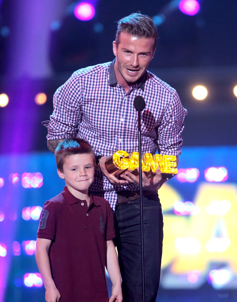 David Beckham brought Cruz on stage during the February Hall of Game Awards in LA.