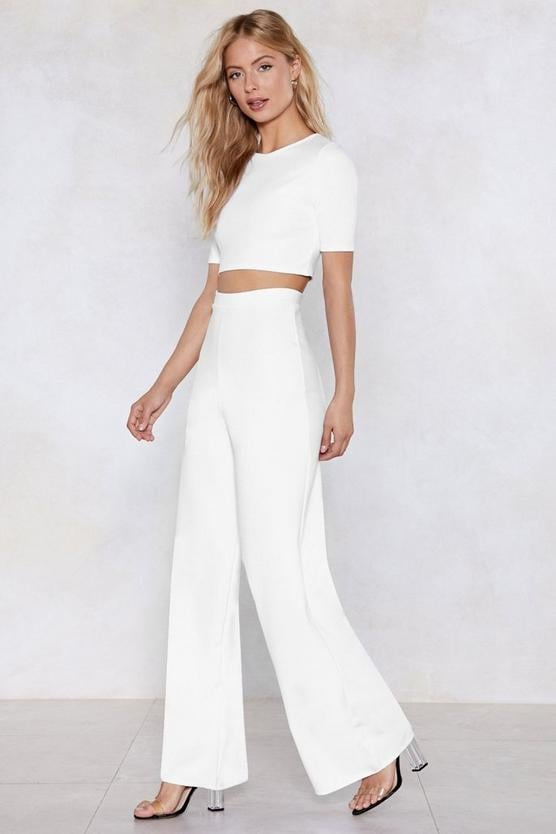 Nasty Gal! Settle the Score Crop Top and Pants Set