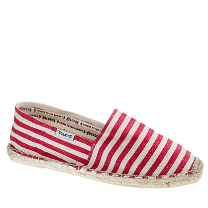 These nautical striped slip-ons were made to be worn on a boat.  Soludos Classic Espadrilles ($36)