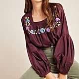 Helia Embroidered Swing Blouse