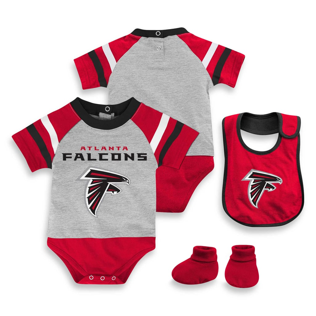 low priced b1547 6d596 NFL Atlanta Falcons Creeper Bib and Bootie Set | Patriots ...