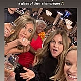 Jennifer Aniston Reese Witherspoon Drink Beyoncé's Champagne