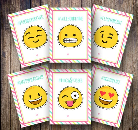 Emoji Faces Valentines Valentine S Day Cards For Tweens Popsugar