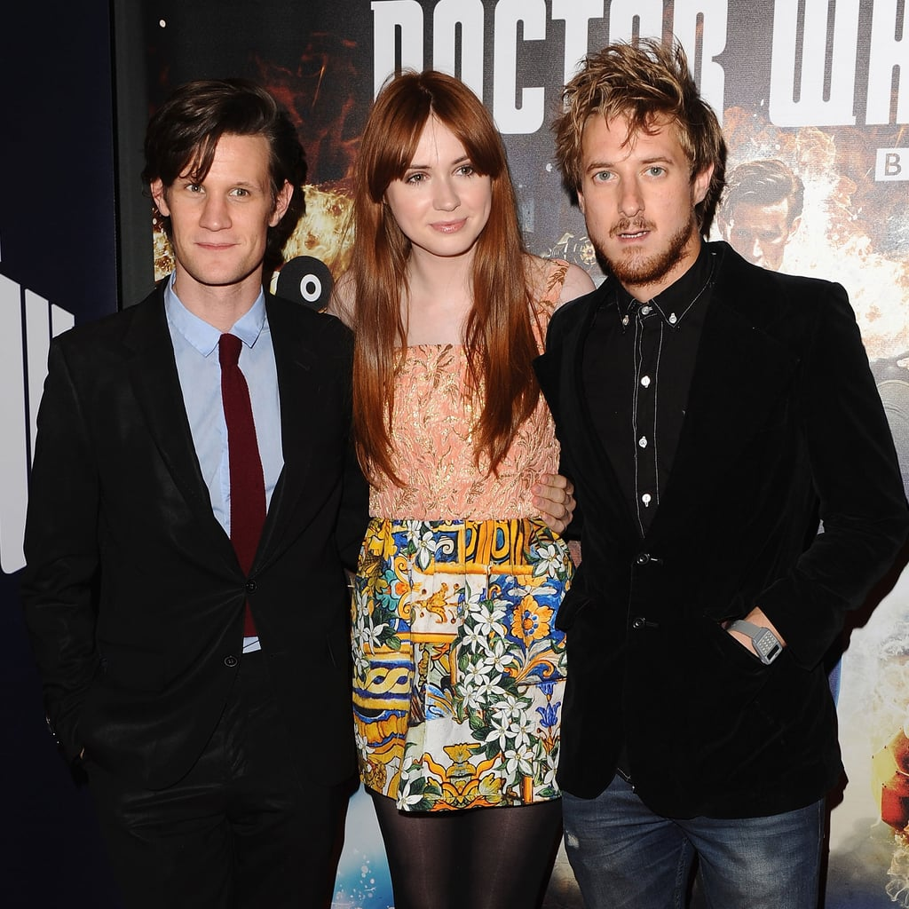 Matt Smith, Karen Gillan, and Arthur Darvill at the Doctor Who season seven London premiere.