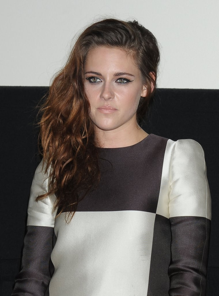 Kristen Stewart wore a printed jumpsuit to the event in Japan.