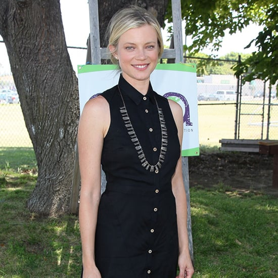 Amy Smart Black Sleeveless Shirtdress