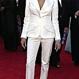 Angelina Jolie Wore a White Dolce & Gabbana Suit to the 2001 Oscars