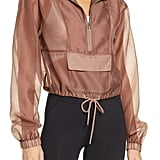 Good American Sheer Half Zip Pullover