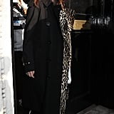 Selena Gomez Wearing a Burberry Trench in London