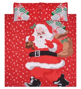 George Home Red Santa Easy Care Duvet Set