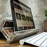 iPad stand and amplifier.
