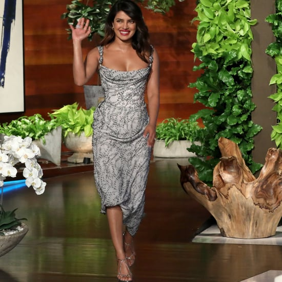 Priyanka Chopra Silver Dress on Ellen Jan. 2019