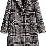 Women Classic Lattice Winter Overcoat