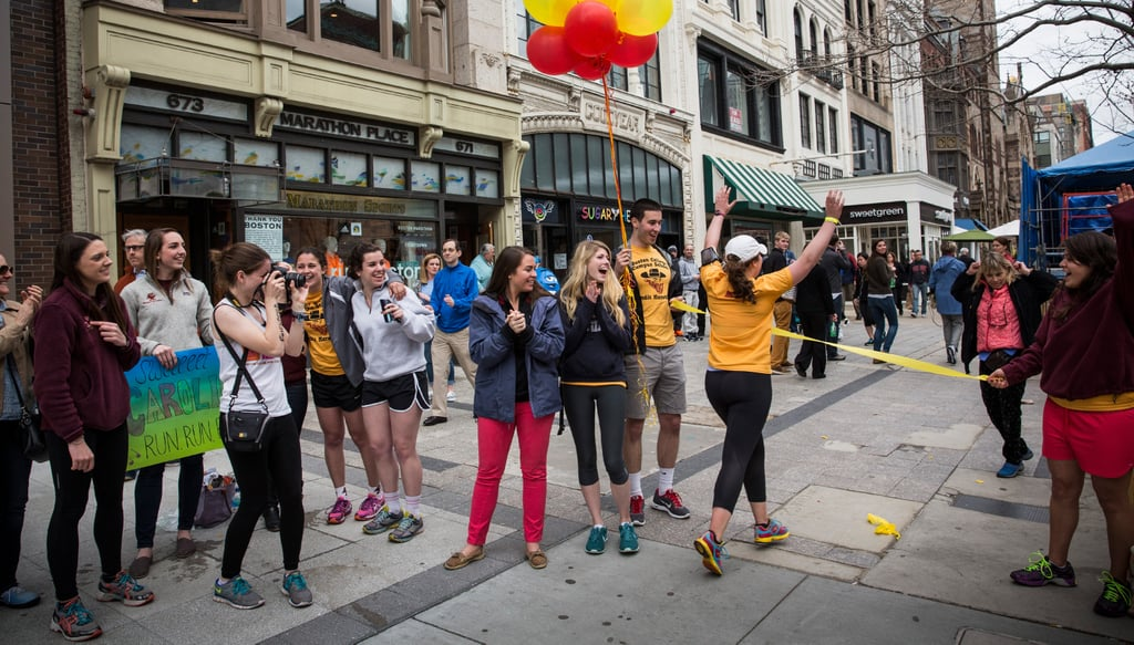 "Boston College students organized a ""bandit marathon,"" running the route one week before the race."