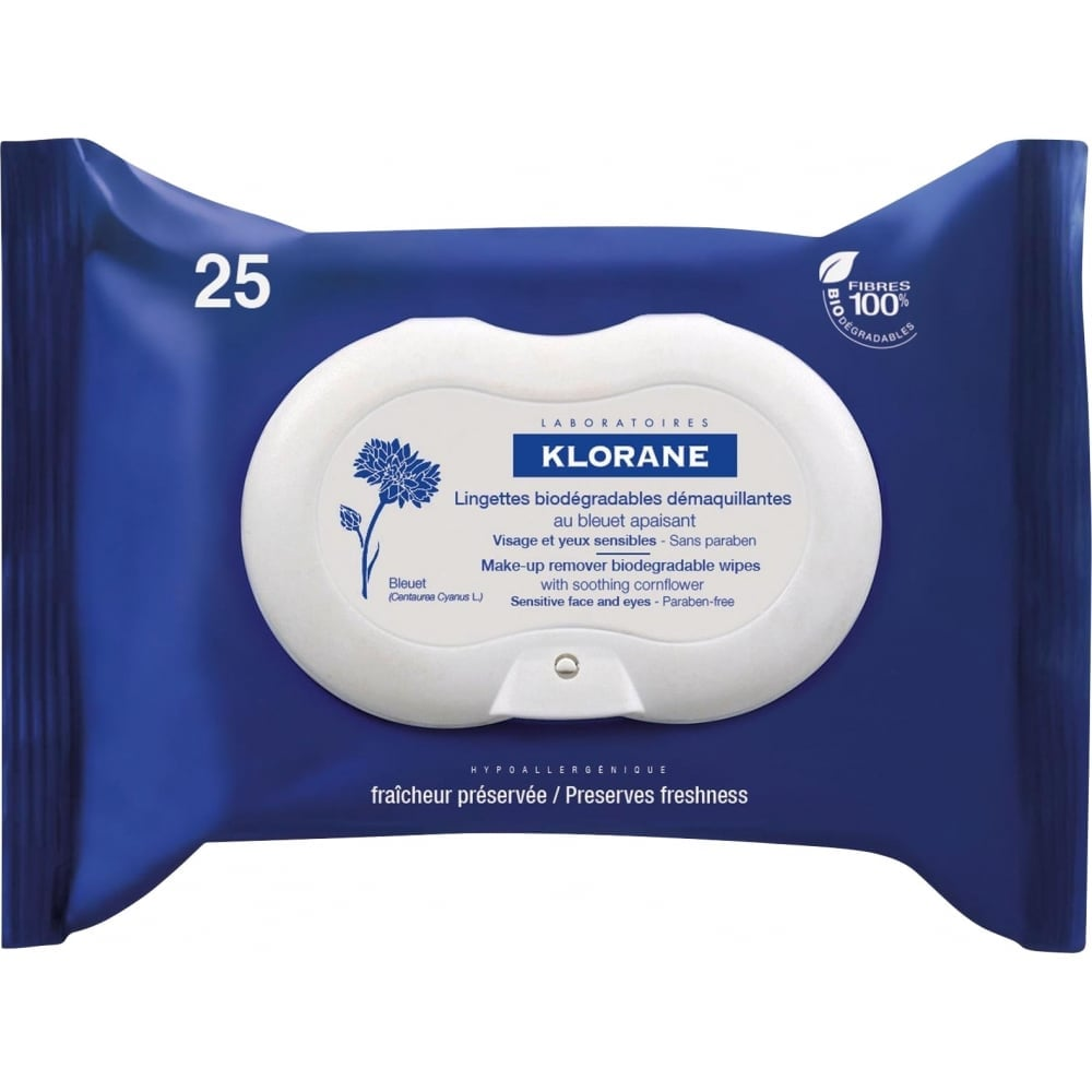 Klorane Makeup Remover Wipes With Cornflower
