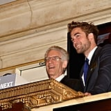 Robert Pattinson visited the New York Stock Exchange to ring the opening bell.