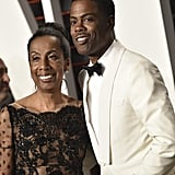 Chris Rock's date to Vanity Fair's Oscars party was his mom, Rosalie.