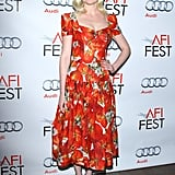 We loved spotting her in Dolce & Gabbana's Spring '12 tomato-printed dress at the AFI Fest's Melancholia screening in November 2011 — it's a quirky take on ladylike wares.