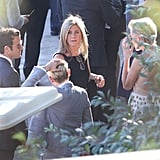 Jennifer Aniston and Justin Theroux talked with Ellen DeGeneres and Portia de Rossi.