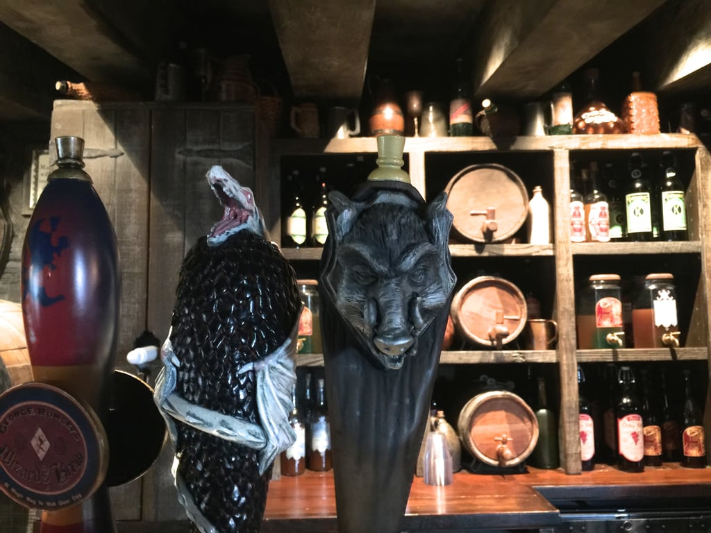 The Hog's Head has specialty drinks — and listen closely for House Elves while you're there.