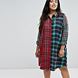 ASOS Mixed Check Shirt Dress