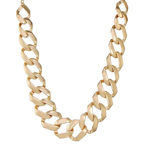 Dana Buchman Gold Tone Large Link Frontal Necklace