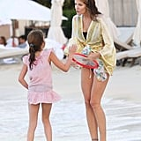 Stephanie Seymour spoke to her daughter Lily Brant.
