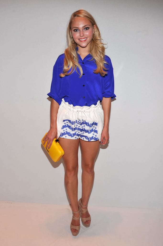 Anna Sophia Robb selected a colourful ensemble for Rebecca Minkoff's show.