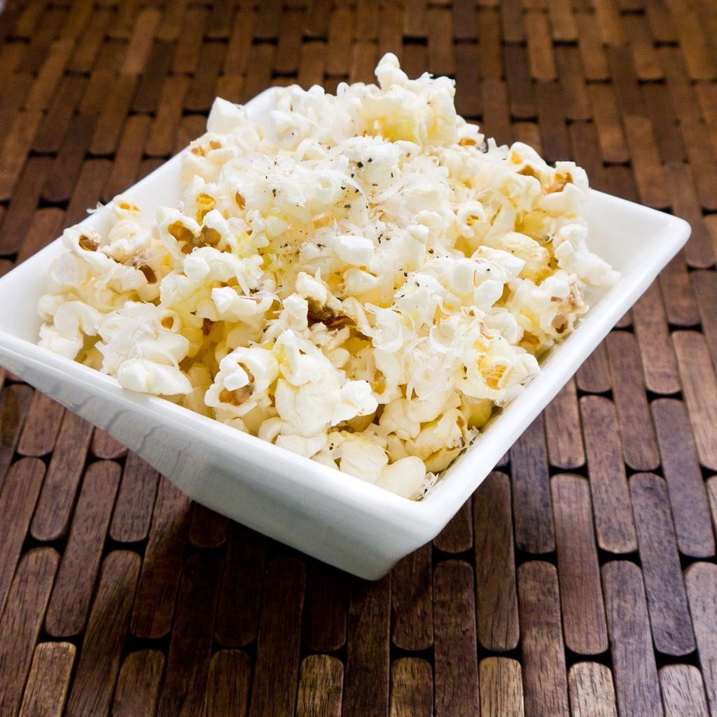 Vegetarian Appetizers: Truffle and Parmesan Popcorn