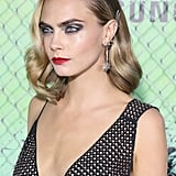Cara Delevingne's Jewelled Barrettes and Side-Swept Waves , 2016