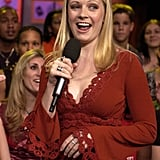 Melissa Joan Hart goofed around on TRL in 2002.