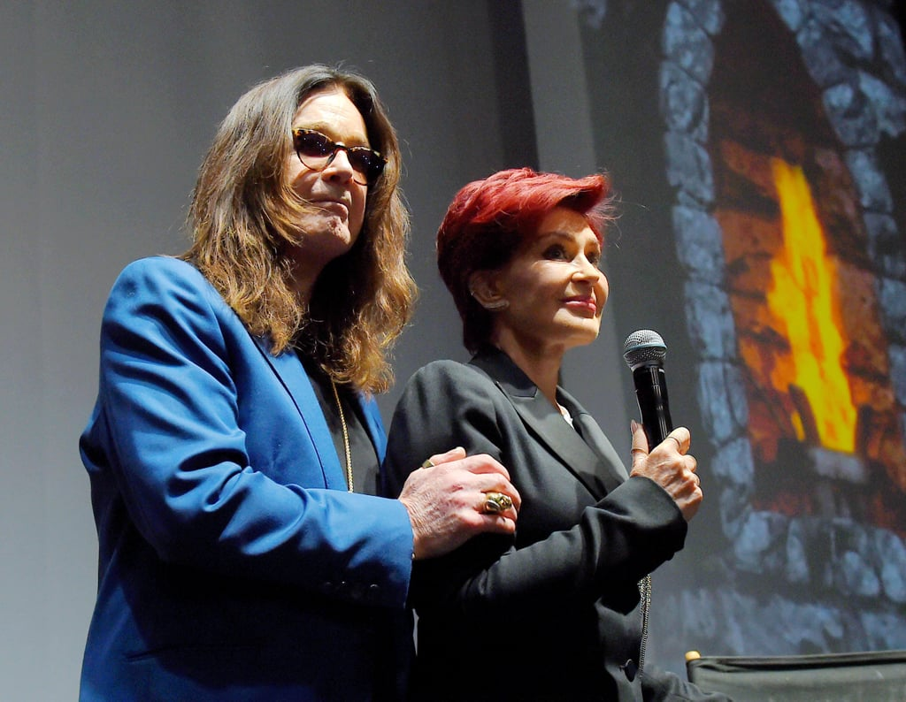 "Despite announcing their split after 34 years of marriage in early May, Sharon and Ozzy Osbourne made the best of their situation when they teamed up for a special announcement at the Hollywood Palladium on Thursday. Joined by musicians Zakk Wylde, Geezer Butler, and Corey Taylor, the Osbournes revealed the Ozzfest and Knotfest music festivals would be joining forces this year in San Bernardino. The former couple looked more than comfortable on stage together, with Ozzy holding Sharon close and the two sharing a few kisses on the cheek.  Sharon opened up about her divorce on The Talk on Tuesday, confirming that they were no longer living together. ""He's back, and I'm out of the house,"" she told her cohosts. ""It's right for me because I honestly, at this point today, have no idea what I'm doing with the rest of my life. I'm 63 years of age, and I can't keep living like this."" Ozzy and Sharon's daughter Kelly also attended the event at the Palladium after subtly voicing her support for her mother on Instagram with a reference to Beyoncé's new album, Lemonade. To break your heart even more, check out which other celebrity couples have called it quits this year."