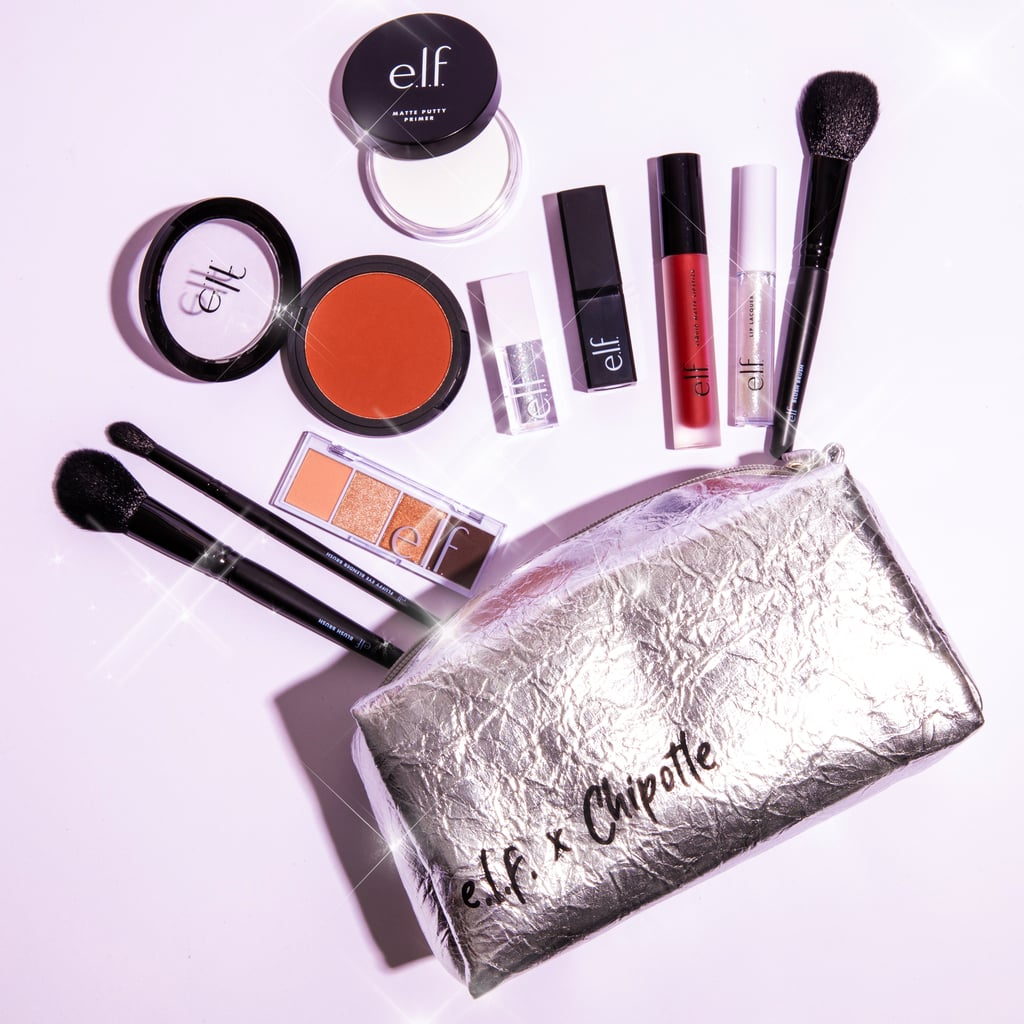 "If you think you're extra for getting guac and queso at Chipotle, we're here to one-up you. E.l.f Cosmetics and Chipotle joined forces to create a limited-edition makeup kit you didn't know you needed: a burrito-inspired cosmetics bag filled with E.l.f.'s most popular products.  The E.l.f. Cosmetics x Chipotle Beauty Kit is housed in a sturdy silver makeup bag that indeed looks like a foil-wrapped burrito, and includes 10 makeup essentials, like E.l.f.'s cult-favorite Putty Primer and lip exfoliator. And as an added bonus, the makeup collection comes with a $15 Chipotle gift card.  For $54, you can get your hands on this limited-edition collection on elfcosmetics.com starting May 14. The catch? Only 100 kits are available, so you have to act fast. You can also use the promo code ""ELFXCHIPOTLE"" to get 25 percent off the kit and other select beauty items on the site. Soooo, anyone else craving a burrito yet? Check out the photos below to see the full collection."