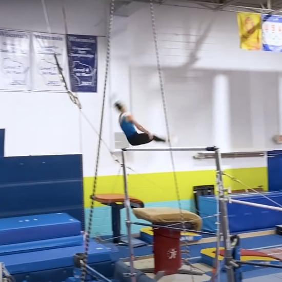 Watch Chellsie Memmel Do a Yurchenko Double Pike at Practice