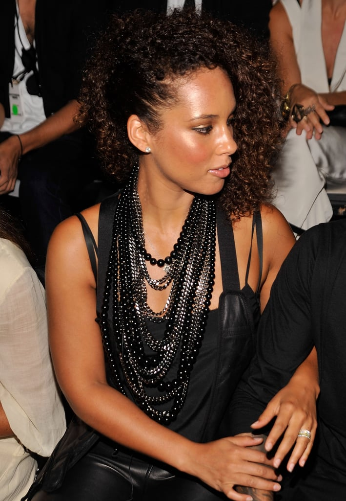 Alicia Keys at a fashion show.
