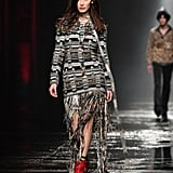 Bella's Missoni Look Was Fringed and Came Complete With Red Booties