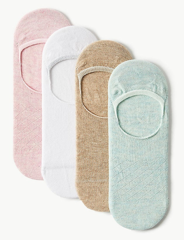 M&S 4-Pack Cotton Rich Trainer Socks