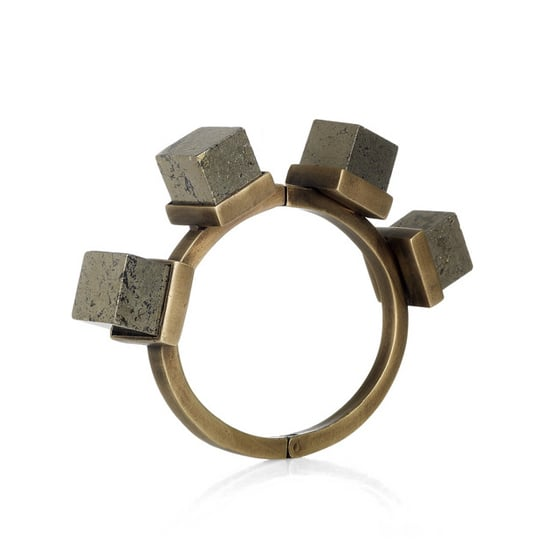 Kelly Wearstler Pyrite and Brass Bangle, $295