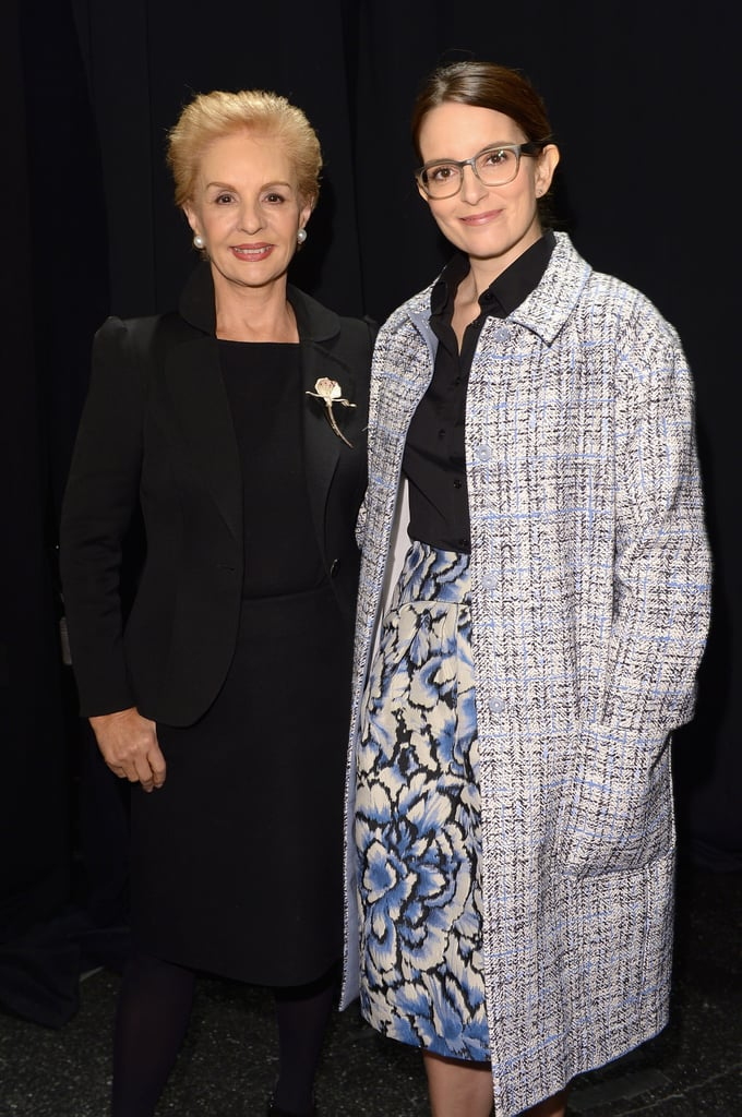 Carolina Herrera and Tina Fey